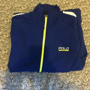 Polo blue sport sweater